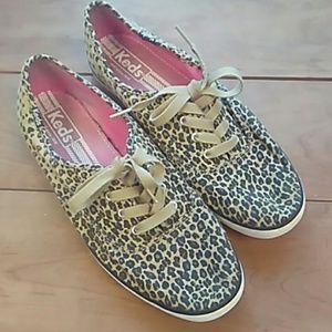 Cheetah print keds